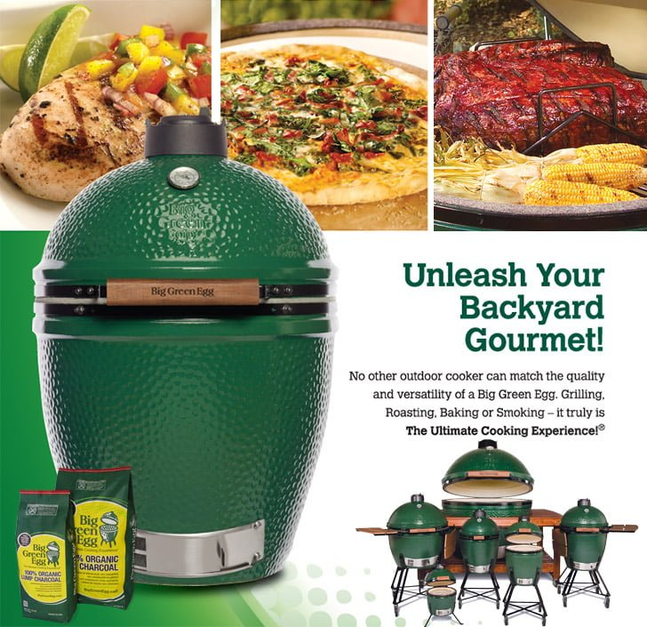 Big Green Egg Cooker Grill Smoker