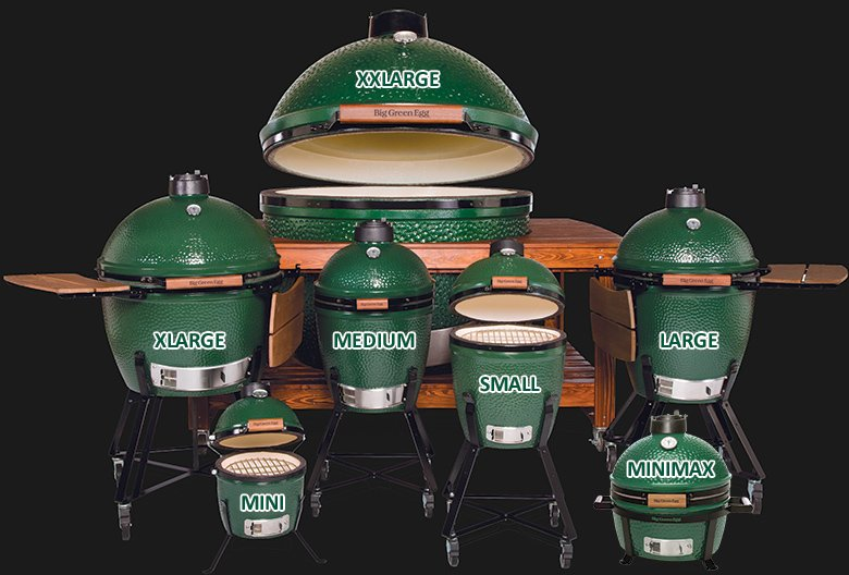 Full Line of Big Green Eggs