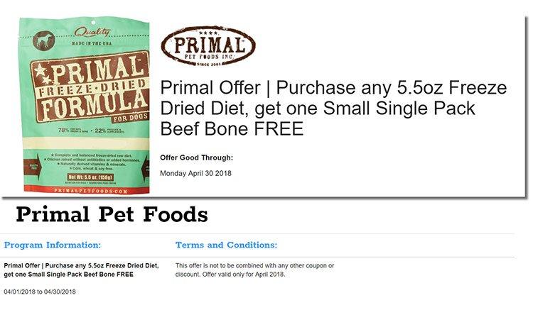 Primal Free Beef Bone Offer @ Sunset Feed Miami
