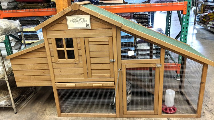 AlekoMulti Level Wooden Chicken Coop or Rabbit Hutch @ Sunset Feed Miami