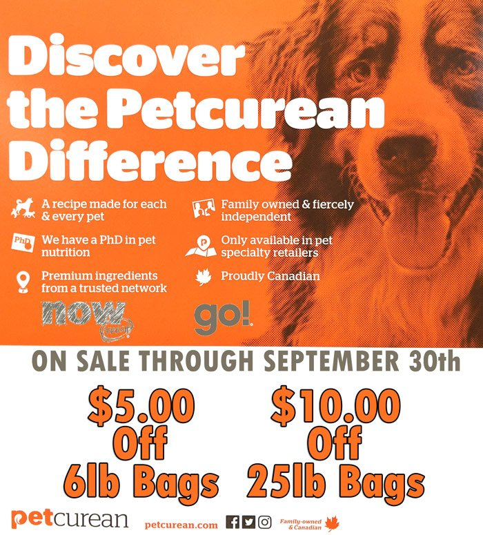 Save $5 on 6lb and $10 on 25lb bags of Petcurean Now Fresh & GO Dog Food thru September 30th-@-sunset-feed-miami