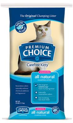 Premium Choice® Carefree Kitty®  All Natural Solid Scoop Unscented Cat Litter