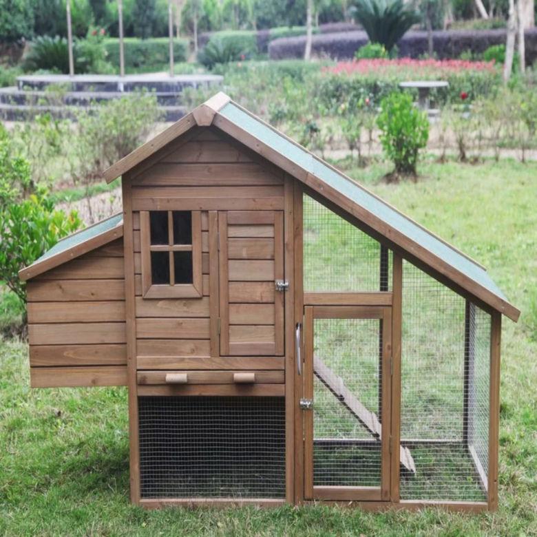 Aleko Multi Level Wooden Chicken Coop