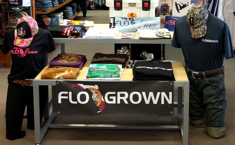 flogrown-tshirt-display-at-sunset-feed-miami