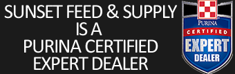 Sunset Feed is a Purina Certified Expert Dealer