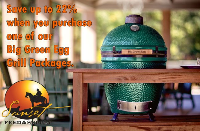 Save up to 22% on Big Green Egg Grill Packages @ Sunset Feed Miami
