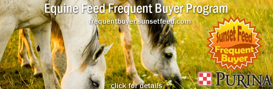 sunset-feed-Purina-equine-feed-frequent-buyer-program