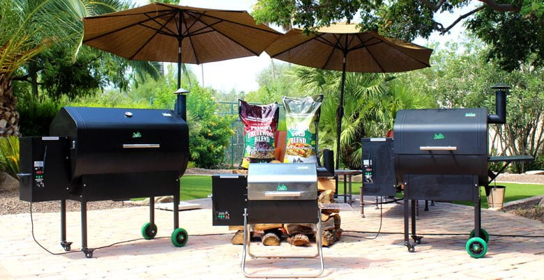 Green-Mountain-Grills-Pellet-Grills-lineup-@-Sunset-Feed-Miami