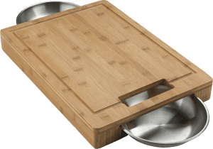 Napoleon PRO CUTTING BOARD with Stainless Steel Bowls @ Sunset Feed Miami