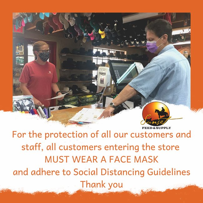 all-customers-must-wear-masks @ sunset feed miami