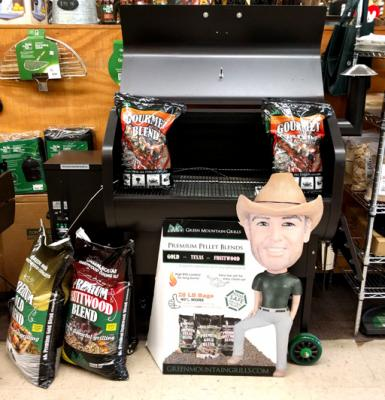 Jim Bowie Wifi Green Mountain Grill with Pellets & Bobblehead