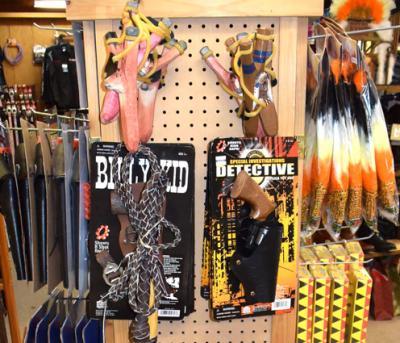 Slingshots, Toy Whips, Holster sets